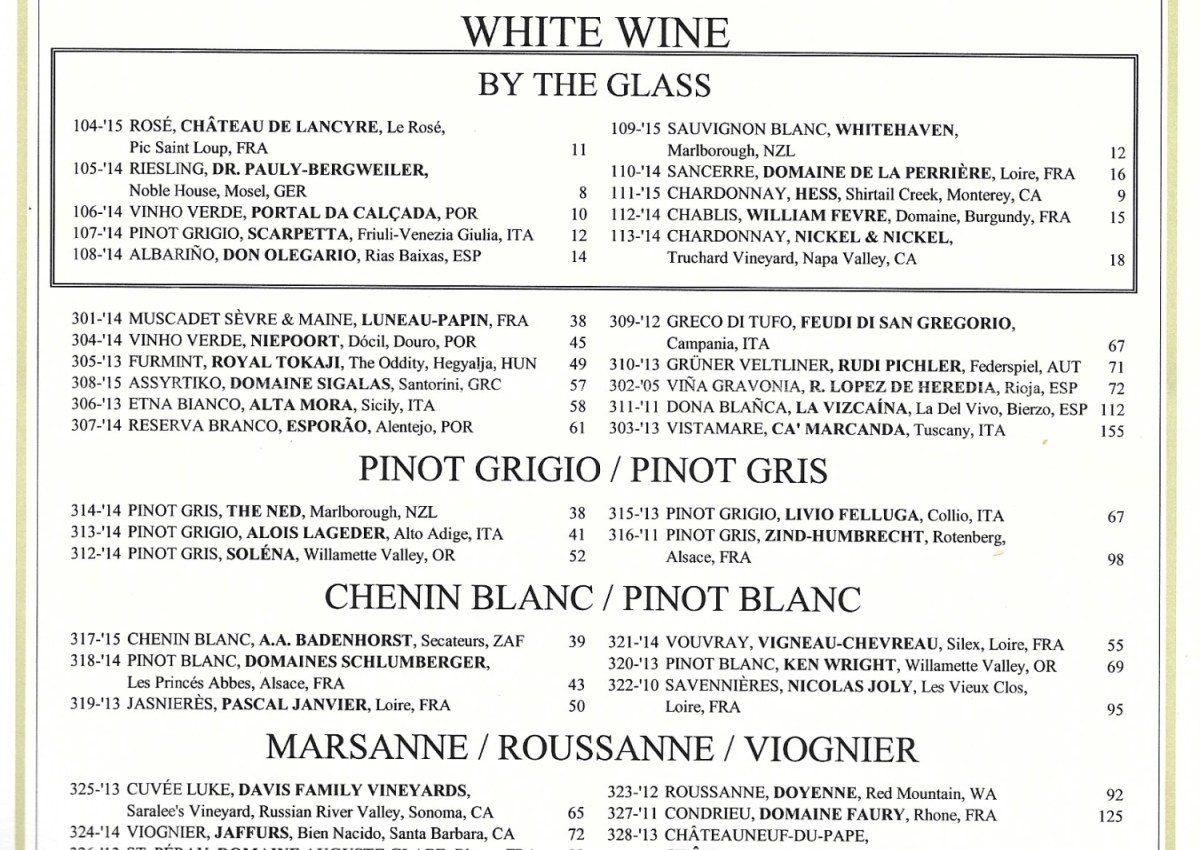 Cómo confeccionar una carta de vinos moderna