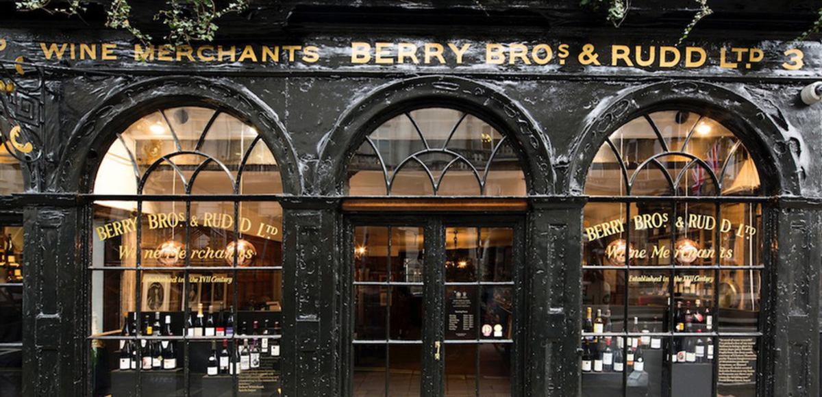 Famous London Wine Shops