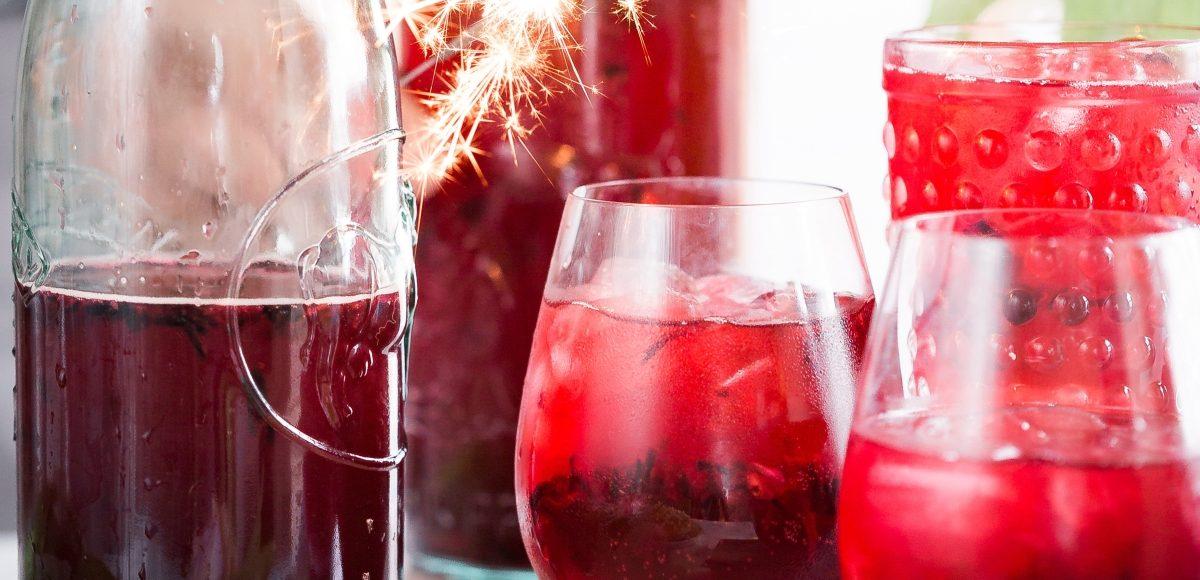 Cócteles de vino para Navidad