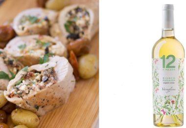 Receta Pollo a la chipriota con 12 e Mezzo Organic Bianco de Puglia