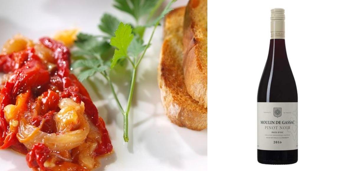 Receta de Esgarraet con vino Moulin de Gassac Pinot Noir