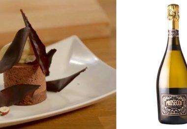 Parfait de chocolate y Fiabesco Prosecco