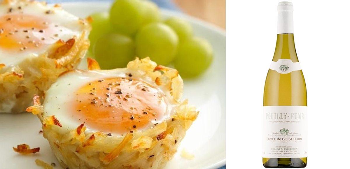 Cestillos de patata y huevo con Cuvée de Boisfleury Pouilly Fumé