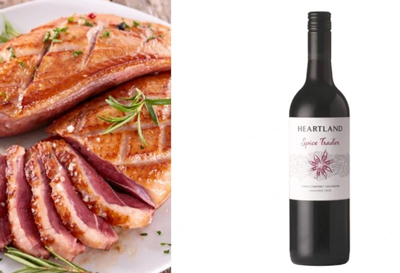 Magret de pato & Heartland Spice Trade en The Wine Place