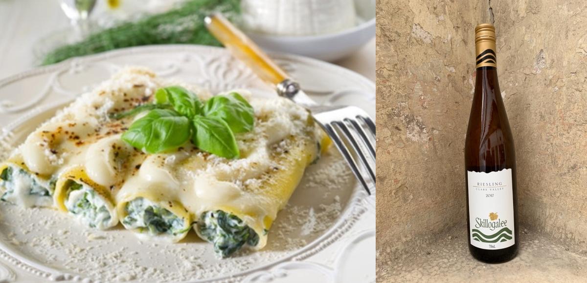 Canelones de espinacas y Ricotta & Skillogalee