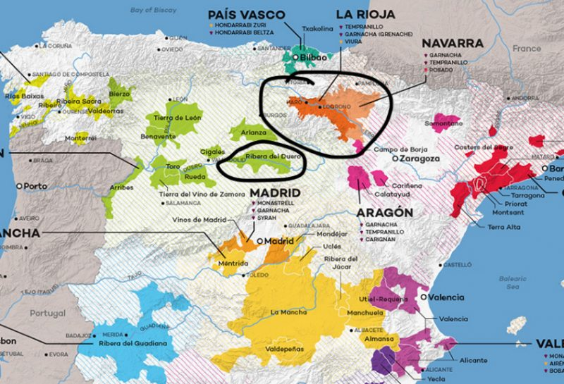 The Differences between Rioja and Ribera del Duero
